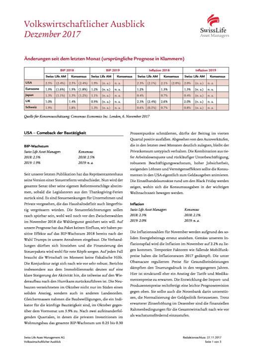 Swiss Life Finanzmarkt- und Volkswirtschaftsausblick 12/2017, Seite 1/6, komplettes Dokument unter http://boerse-social.com/static/uploads/file_2409_swiss_life_finanzmarkt-_und_volkswirtschaftsausblick_122017.pdf