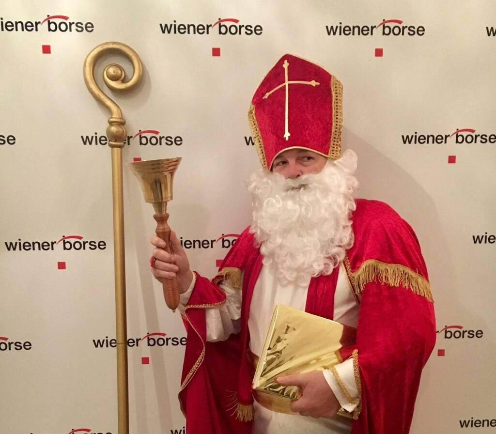Nikolo zu Besuch in der Wiener Börse, Foto: Wiener Börse (06.12.2017)