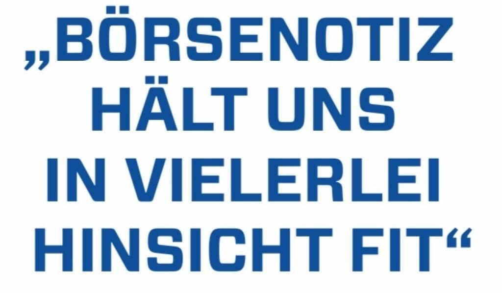 Börsenotiz hält uns in vielerlei Hinsicht fit  Herta Stockbauer (10.12.2017)
