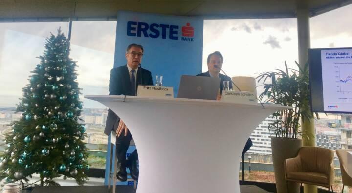 Fritz Mostböck (Head of Research Erste Group) und Christoph Schultes (Senior Analyst CEE bei der Erste Group) sehen weiterhin eine gute Aussgangssituation für die Aktienmärkte; Credit: BSN