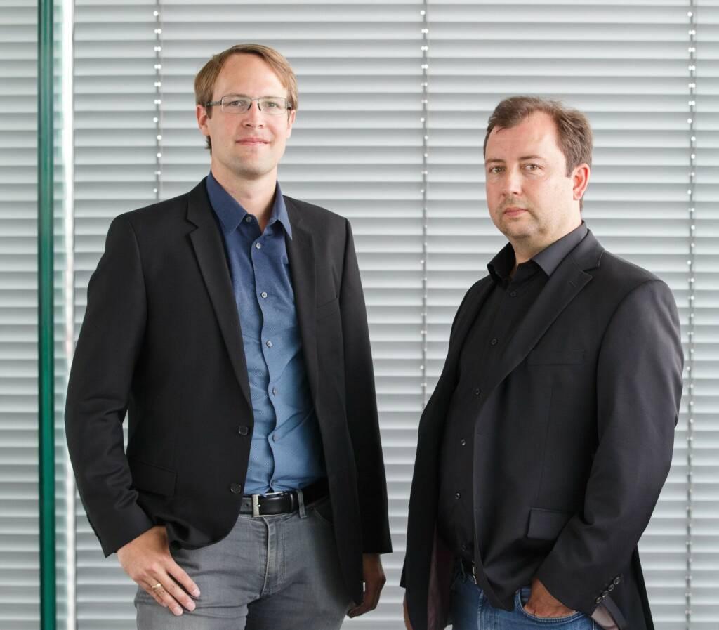 Unternehmer Roman Scharf und Peter Lasinger legen mit neuen VC-Fonds capital300 los, Bild: Startup300, © Aussendung (19.12.2017)