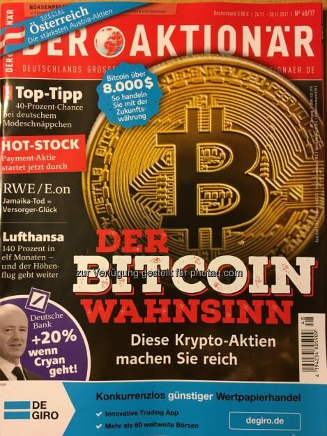 Der Aktionär - Der Bitcoin Wahnsinn - Diese Krypta-Aktien machen Sie reich... Inkl. Österreich-Special - Die stärksten Austria-Aktien... (05.01.2018)