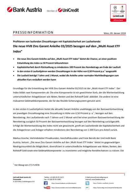 """Die neue HVB Zins Garant Anleihe 03/2025 bezogen auf den """"Multi Asset ETF Index"""", Seite 1/3, komplettes Dokument unter http://boerse-social.com/static/uploads/file_2414_die_neue_hvb_zins_garant_anleihe_032025_bezogen_auf_den_multi_asset_etf_index.pdf (09.01.2018)"""