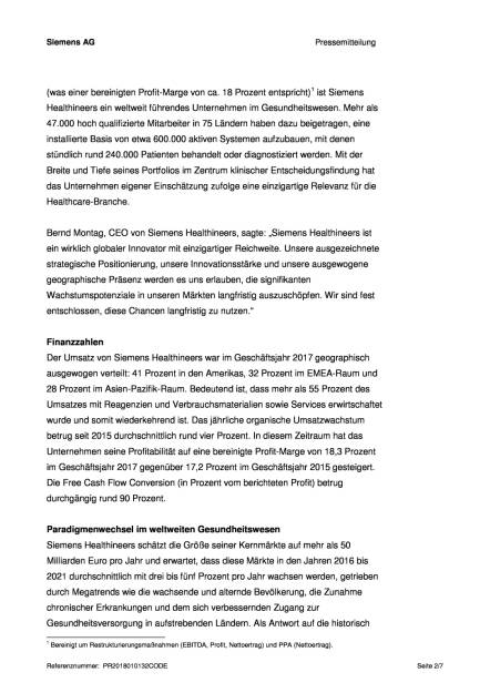 Siemens Healthineers plant IPO, Seite 2/7, komplettes Dokument unter http://boerse-social.com/static/uploads/file_2417_siemens_healthineers_plant_ipo.pdf