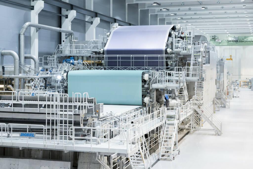 Die von ANDRITZ gelieferte PM2 ist seit 2013 erfolgreich am Standort Pöls in Betrieb. © ANDRITZ, © Aussendung (19.01.2018)