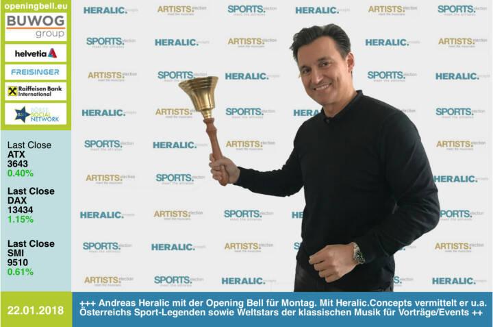 #openingbell am 22.1.: Andreas Heralic mit der Opening Bell für Montag. Mit Heralic.Concepts vermittelt er u.a. Österreichs Sport-Legenden sowie Weltstars der klassischen Musik  für Vorträge/Events. Rund um Business Athletes, vgl. http://www.runplugged.com/baa, wird eine Kooperation mit dem Börse Social Network entstehen https://www.heralic.at/ https://www.facebook.com/groups/Sportsblogged #runpluggedlaufstark https://www.facebook.com/groups/GeldanlageNetwork/ #goboersewien