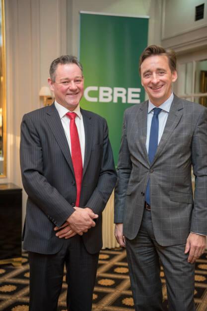 Nick Axford und Andreas Ridder von CBRE; © CBRE (23.01.2018)