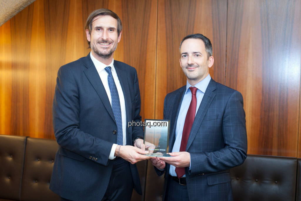 Christoph Moser (Weber & Co.), Manuel Taverne (FACC) - Aktie im ATX Prime - FACC, © photaq (25.01.2018)