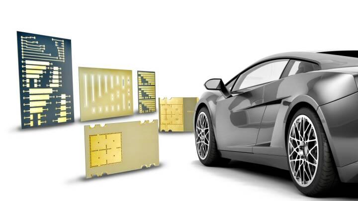 AT&S-Produkte, die in Automobilen eingesetzt werden, Autonomes Fahren, High Frequency PCBs, Credit: AT&S