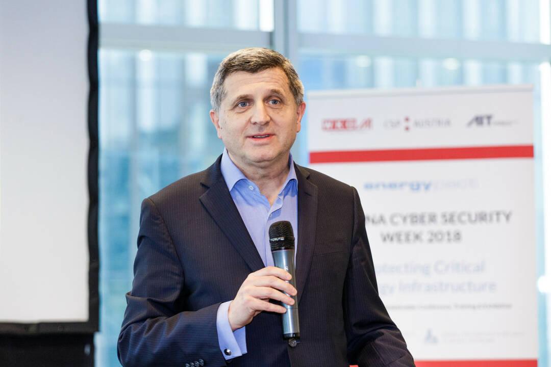 Internationale Cyber Security Szene trifft sich in Wien, Alexandre Dimitrijevic, Präsident der Energypact Foundation bei der Vienna Cyber Security Week 2018 - Fotocredit:AIT / Arman Rastegar