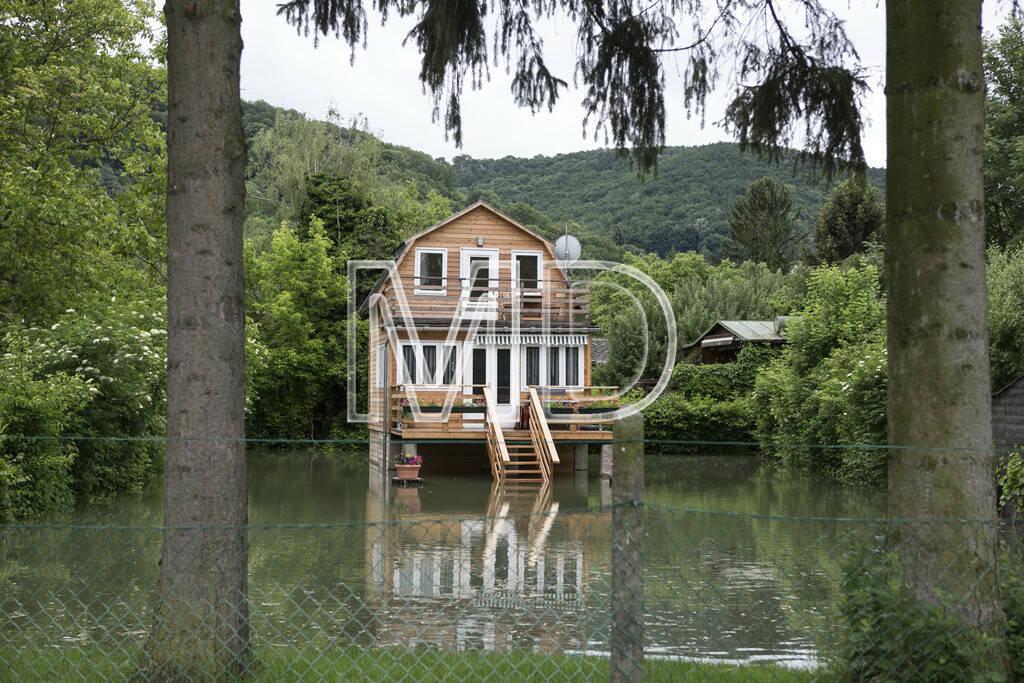 Hochwasser, Altenberg, Haus, © Martina Draper (03.06.2013)