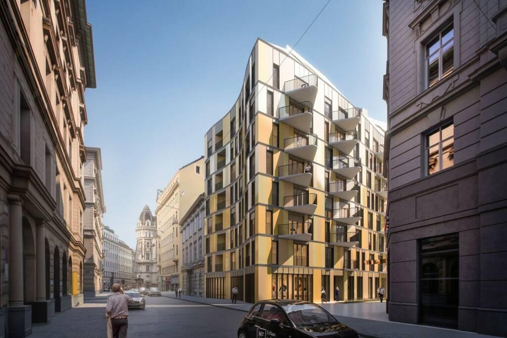 """Das auf die Finanzierung von Immobilienprojekten spezialisierte Crowdinvestingunternehmen Rendity startet Anfang März sein bisher größtes Einzelprojekt: Das """"N°10"""" (No10) in der Renngasse in der Inneren Stadt wird mit einem Betrag von 1,5 Mio. Euro von der Crowd teilfinanziert werden. Es ist damit nicht nur das größte Rendity-Projekt, sondern auch das bisher größte österreichische Immobilien-Crowdinvestmentprojekt überhaupt und auch das erste mit dem eine Immobilie in der Wiener Innenstadt finanziert wird. Ab sofort können Anleger auf der Webseite www.rendity.com Investments voranmelden. Credit: 2016 ZOOMVP_JPI Renngasse (21.02.2018)"""