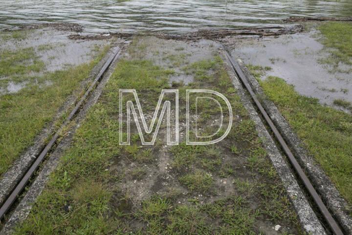 Hochwasser, Greifenstein, Schienen