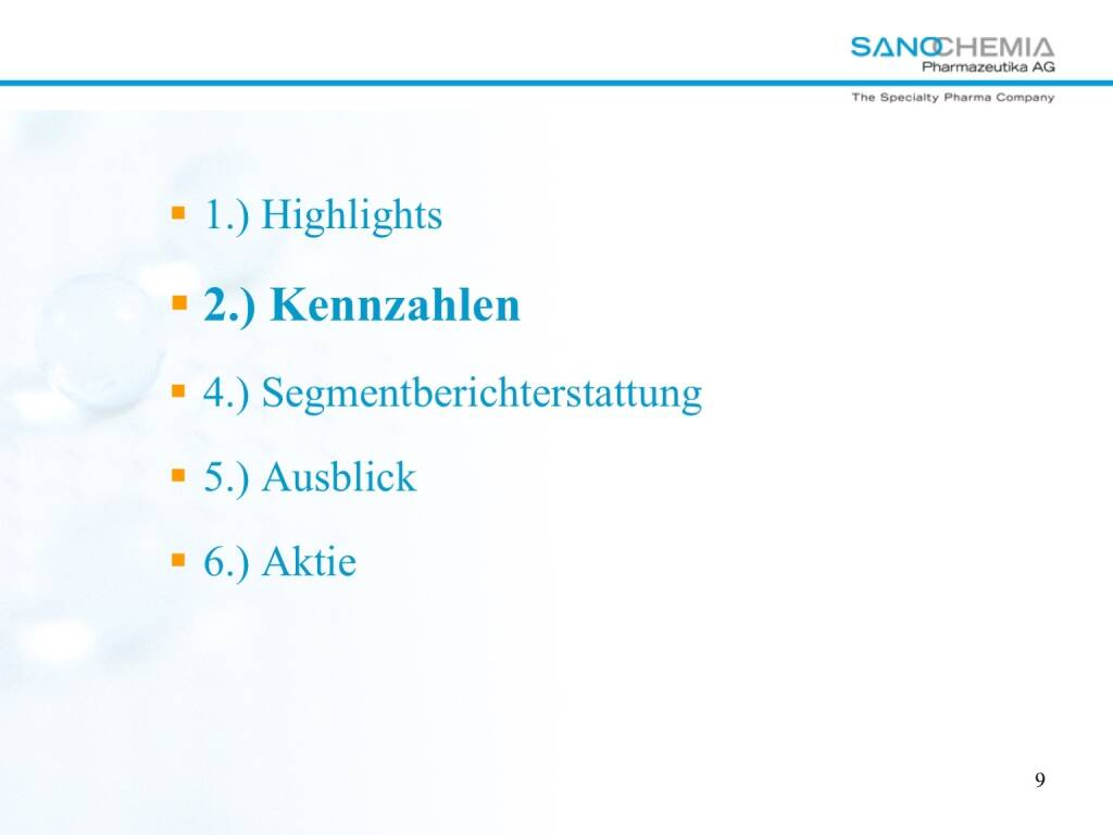 Präsentation Sanochemia - Kennzahlen (27.02.2018)