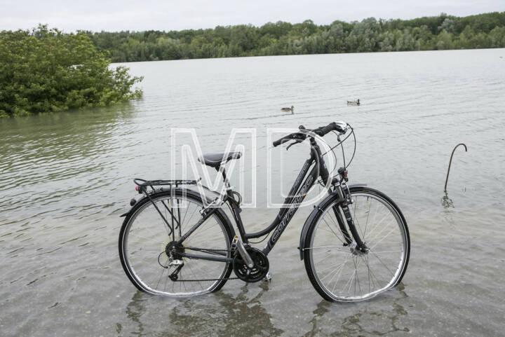 Hochwasser, Greifenstein, Fahrrad
