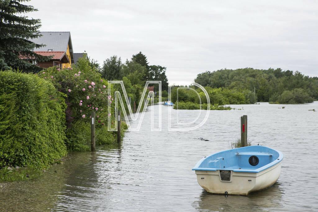 Hochwasser, Altenberg, Boot, © Martina Draper (03.06.2013)
