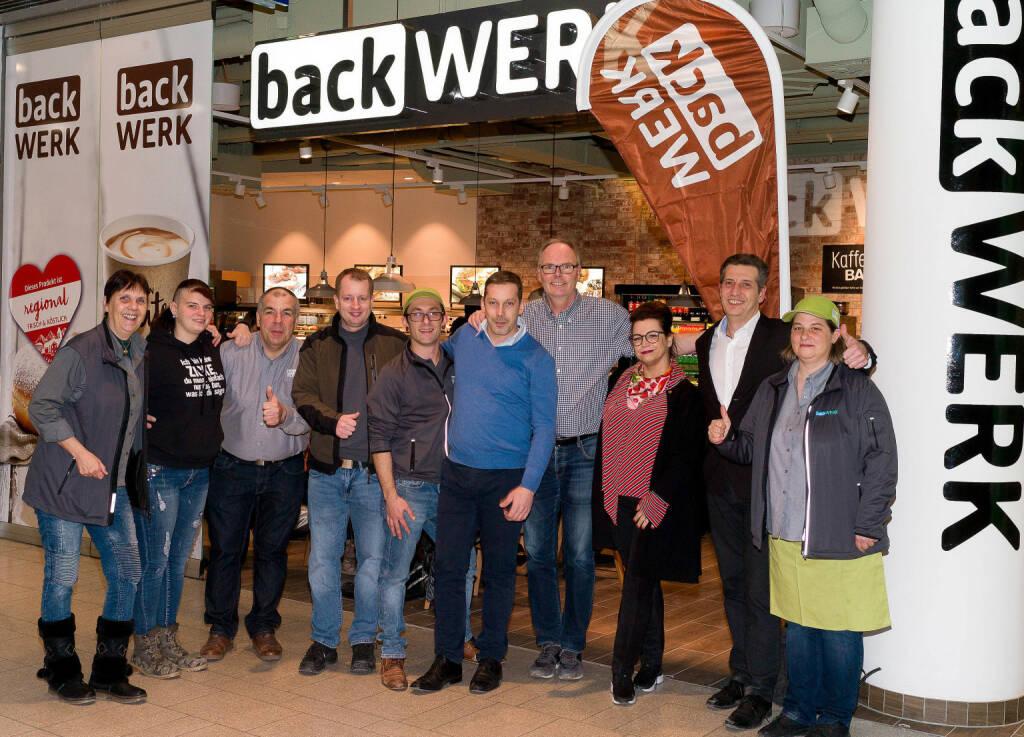 Startschuss für das BackWerk-Team in der stark frequentierten BahnhofCity Wien West; Bildquelle: Christian Schörg, © Aussendung (06.03.2018)