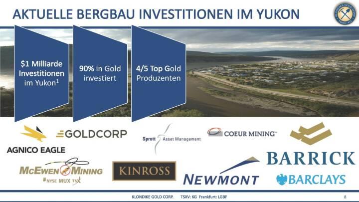 Präsentation Klondike - aktuelle Bergbgau-Inestitionen im Yukon