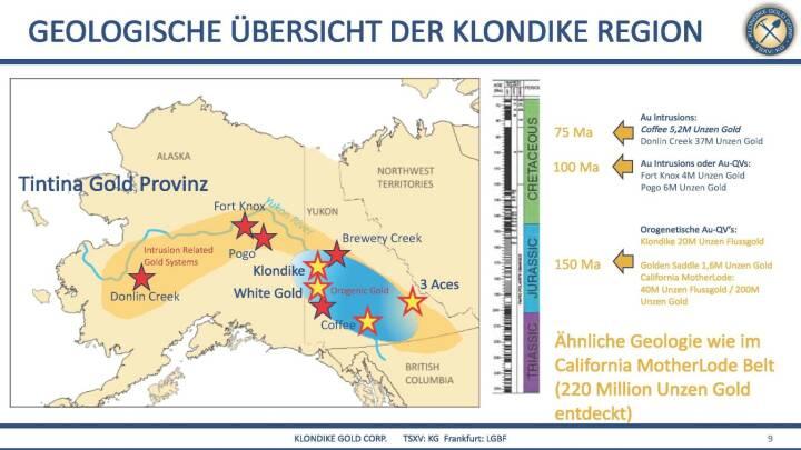 Präsentation Klondike - geologische Übersicht der Klondike Region