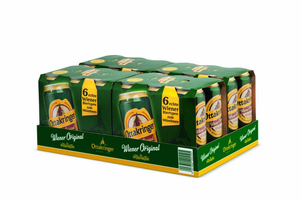 Ottakringer, Bier, Dosen, Dosenclustertray, Foto: Ottakringer, © Aussendung (08.03.2018)