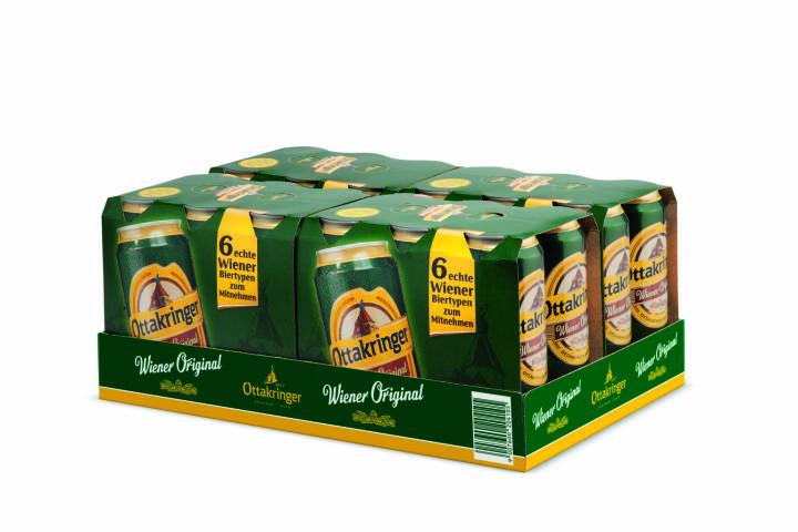 Ottakringer, Bier, Dosen, Dosenclustertray, Foto: Ottakringer
