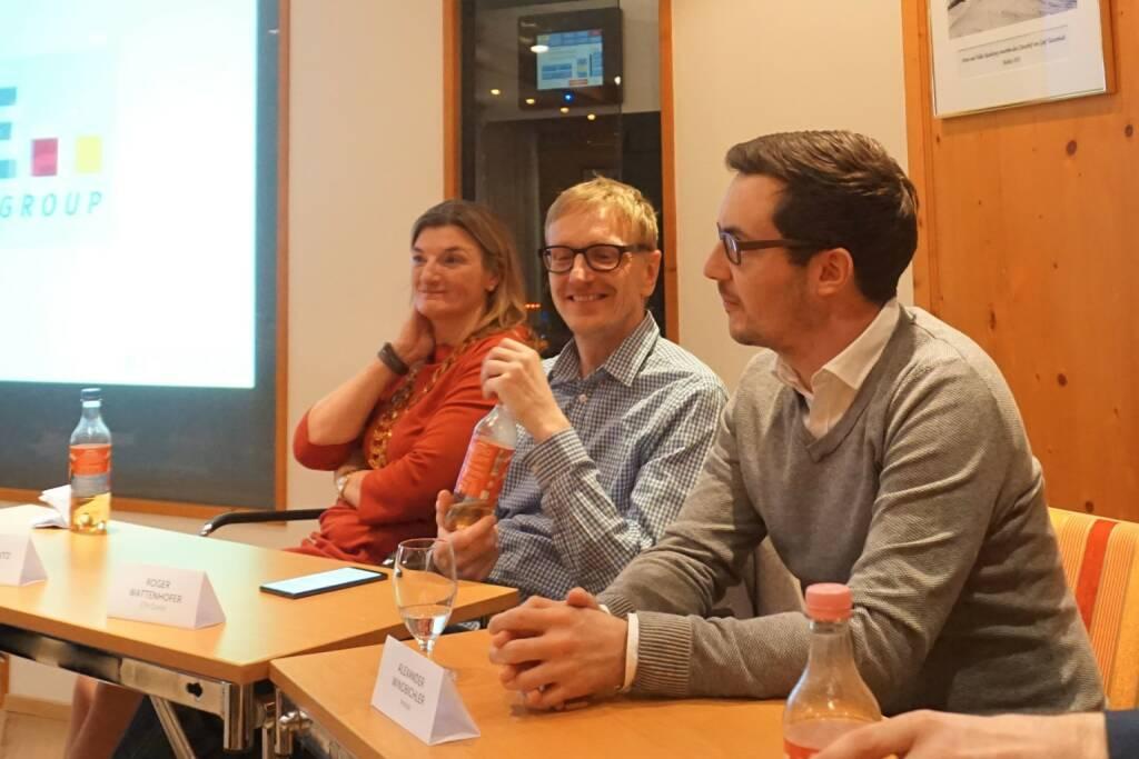 Microsoft Österreich-Chefin Dorothee Ritz, Anexia-Gründer Alexander Windbichler, ETH Zürich Professor Roger Wattenhofer © The Near Future Summit (14.03.2018)