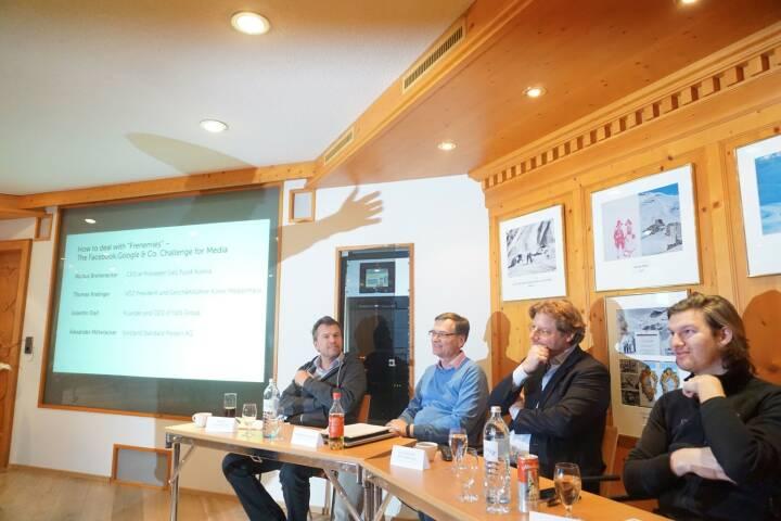 Diskussionsrunde mit Puls 4-Geschäftsführer Markus Breitenecker ... © The Near Future Summit