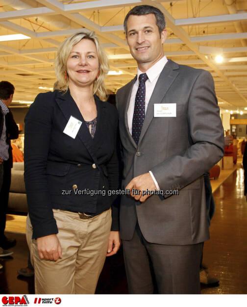 Generalsekretaerin Petra Huber (OEPC) und Horst Nussbaumer. Foto: GEPA pictures/ Mario Kneisl (04.06.2013)
