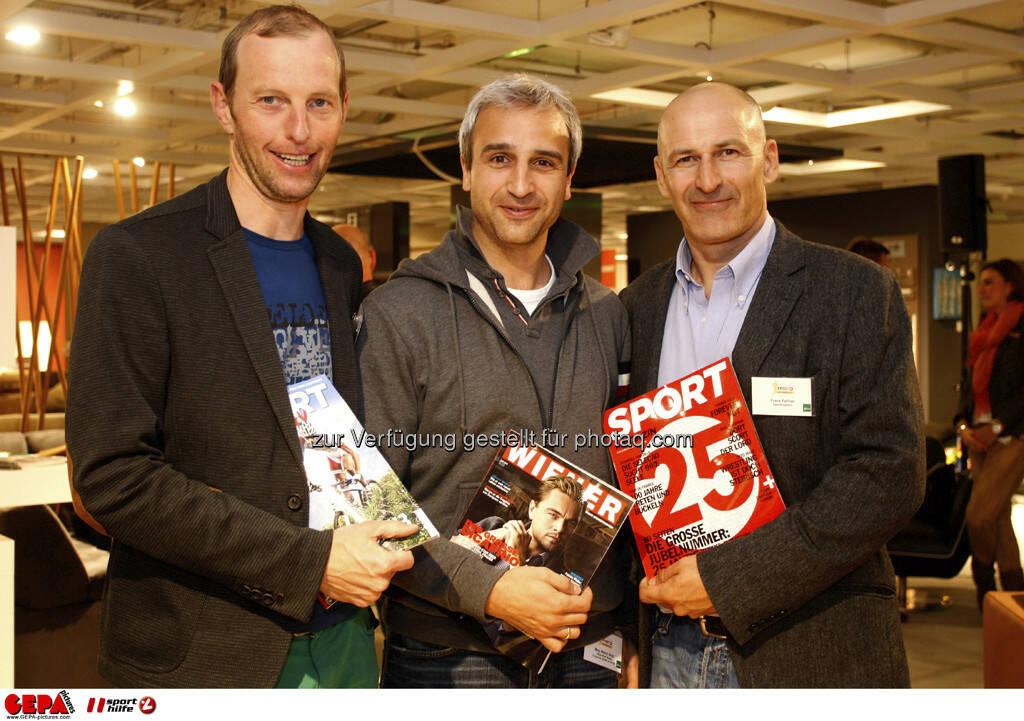 Alfred Brunner, Martin Distl und Franz Fellner (Styria Multimedia). Foto: GEPA pictures/ Mario Kneisl (04.06.2013)