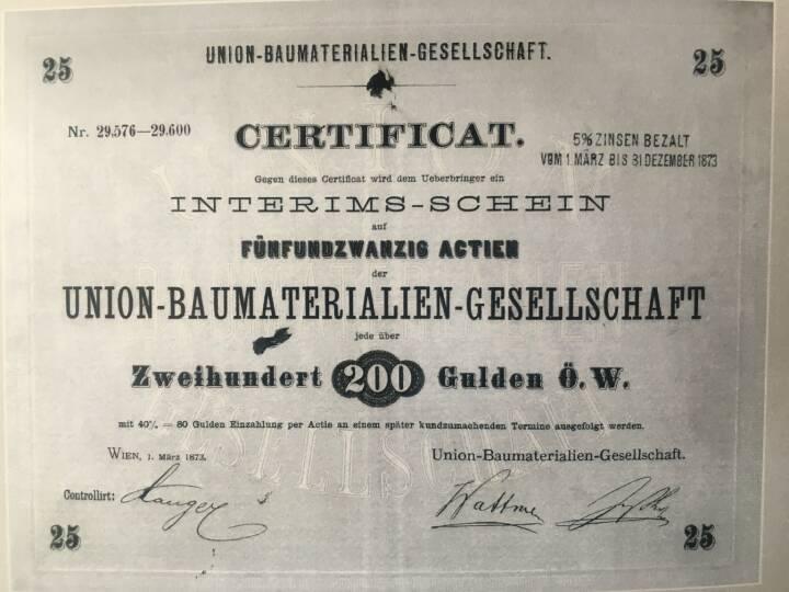 Die UBM-Aktie ist am 10. April 2018 genau 145 Jahre an der Börse, Bildquelle: UBM