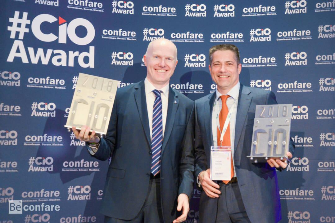 Mit dem renommierten Award der IT-Branche – dem Confare CIO AWARD - wurde im Rahmen des 11. Confare CIO & IT-Manager Summits am 11. April 2018 in der Orangerie in Schönbrunn, Alexander Bockelmann, Chief Digital Officer & Mitglied des Vorstands bei UNIQA Österreich und UNIQA International, als bester IT-Manager für Großunternehmen in Österreich geehrt. Fotocredit: confare