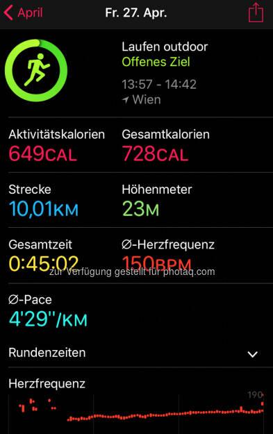10k in 4:30, dann 7k in ca. 5:30 (29.04.2018)