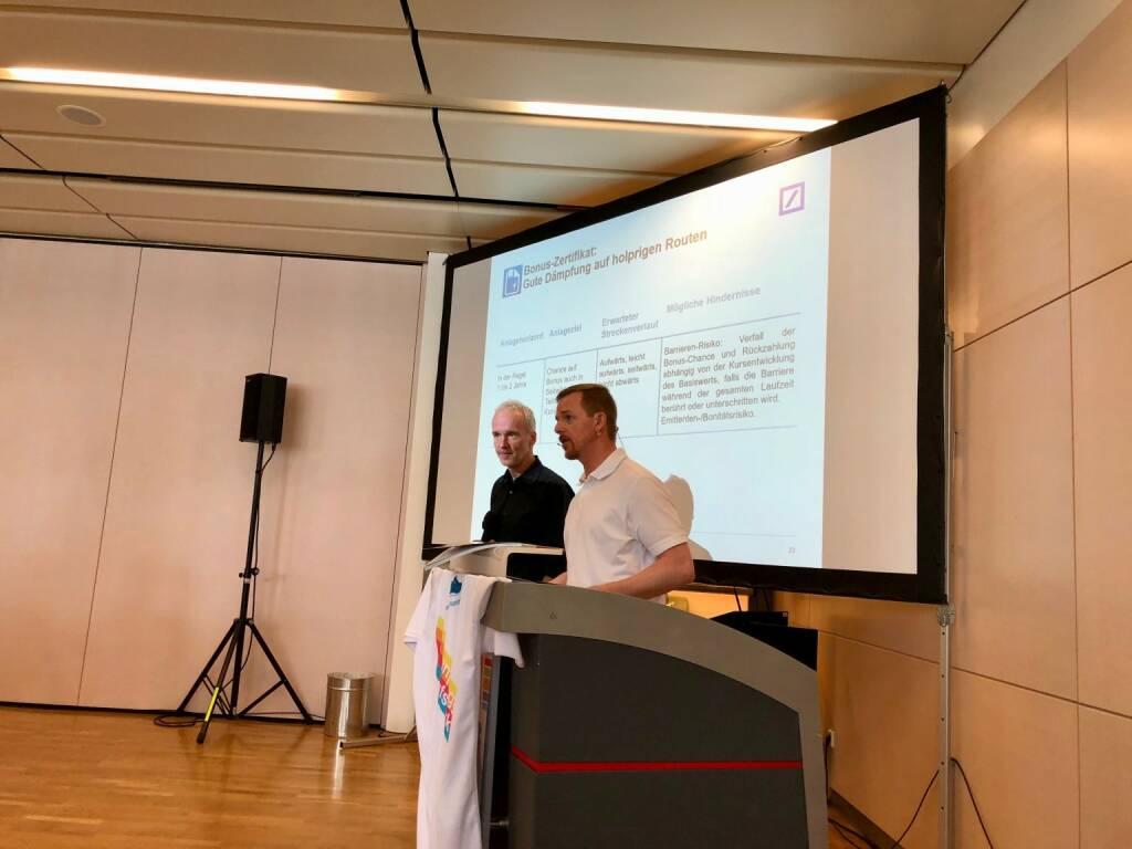 Christian Drastil (BSN), Christian Hendrik Knappe (Deutsche Bank X-markets),  (06.05.2018)