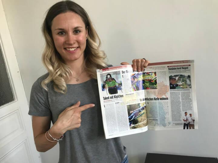 Lisa Unterweger und ihr Artikel in der Sport Woche
