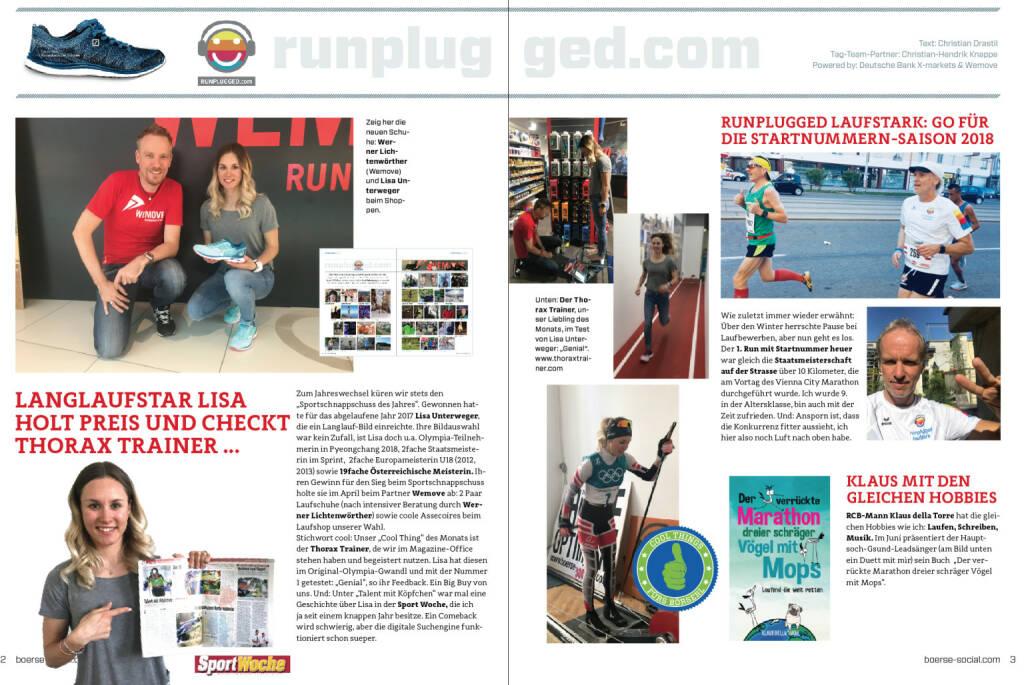 Die Print-Doppelseite aus dem druckfrischen http://www.boerse-social.com/magazine (17.05.2018)