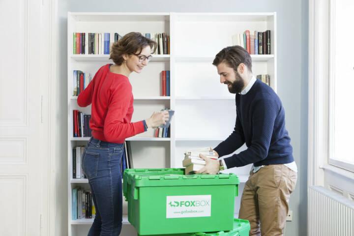 GoFoxBox: Die Umzugsbox zum Mieten bietet mehr Platz und hält mehr Gewicht aus als Kartons, Copyright: GoFoxBox