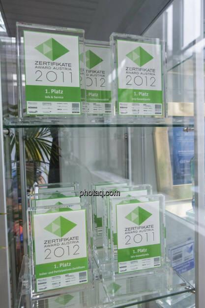 RCB Zertifkate Awards 2011, 2012, © Martina Draper (15.12.2012)