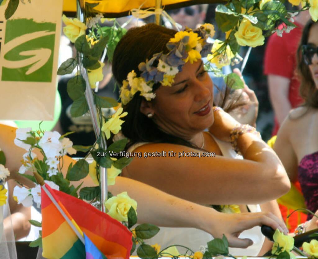 Regenbogenparade in Wien, Maria Vassilakou (14.06.2013)