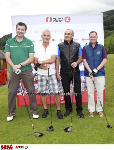 Sporthilfe Golf Trophy, GCC Schladming. Christian Zieger, Guenther Burgstaller, Karl Orthaber und Bernd Michael Sakotnik, Foto: GEPA pictures/ Harald Steiner (17.06.2013)