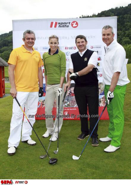 Sporthilfe Golf Trophy, GCC Schladming. Franz Felber, Brigitte Aumayr, Walter Kroneisl und Guenther Reicher, Foto: GEPA pictures/ Harald Steiner (17.06.2013)