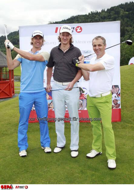 Sporthilfe Golf Trophy, GCC Schladming. Gernot Schwab, Philip Chlupacek und Meinhard Aicher, Foto: GEPA pictures/ Harald Steiner (17.06.2013)