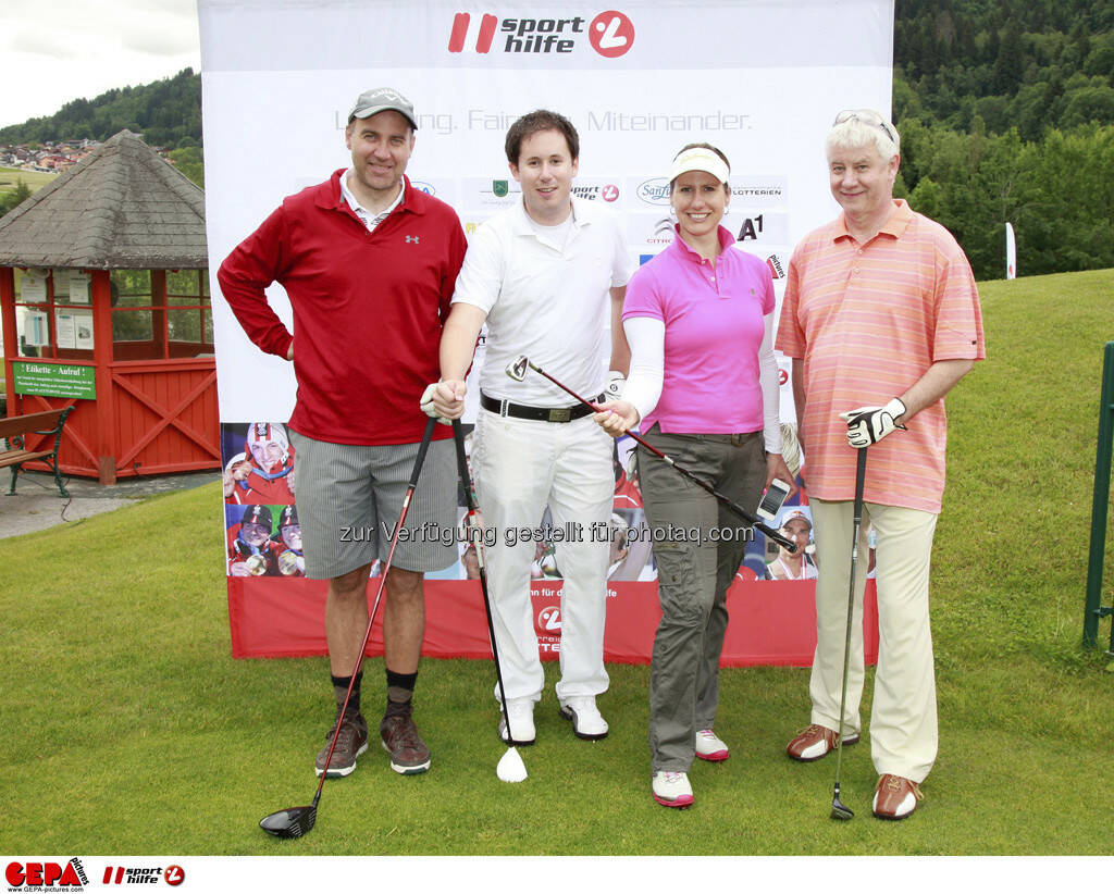 Sporthilfe Golf Trophy, GCC Schladming. Guenther Meyringer, Robert Staubmann, Brigitte Obermoser und Andreas Bruendl, Foto: GEPA pictures/ Harald Steiner (17.06.2013)