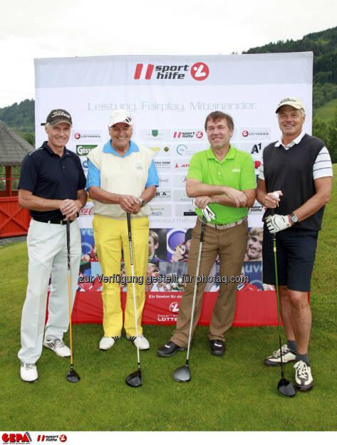 Sporthilfe Golf Trophy, GCC Schladming. Gerhard Peinhaupt, Heinz Strassegger, Helmut Hoeflehner und Manfred Breitfuss, Foto: GEPA pictures/ Harald Steiner (17.06.2013)