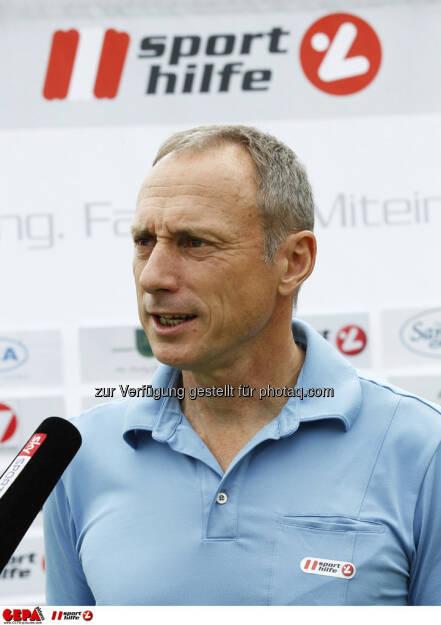 Sporthilfe Golf Trophy, GCC Schladming. Geschaeftsfuehrer Anton Schutti (Sporthilfe) beim Interview, Foto: GEPA pictures/ Harald Steiner (17.06.2013)