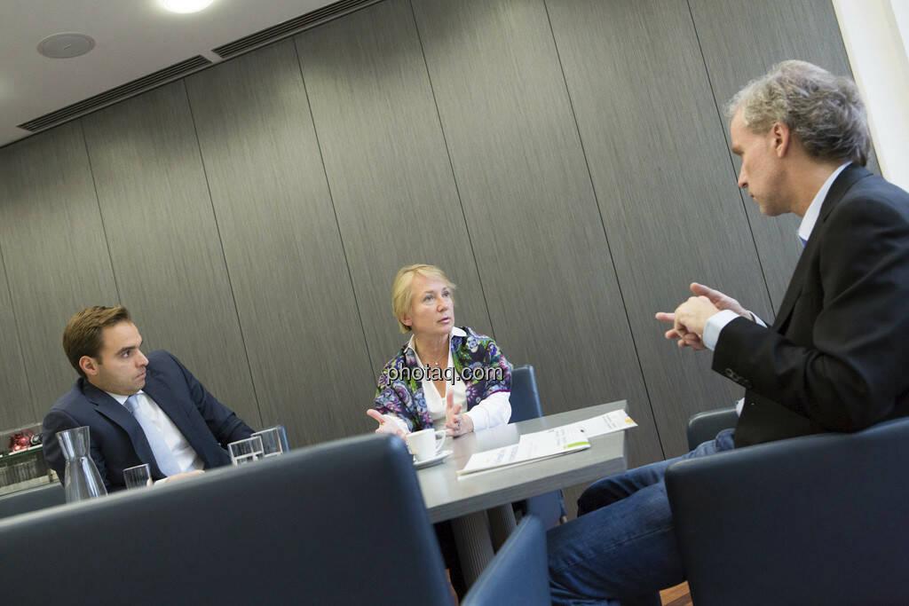 Philipp Arnold, Heike Arbter (RCB), Christian Drastil (CD Comm.), © Martina Draper (15.12.2012)
