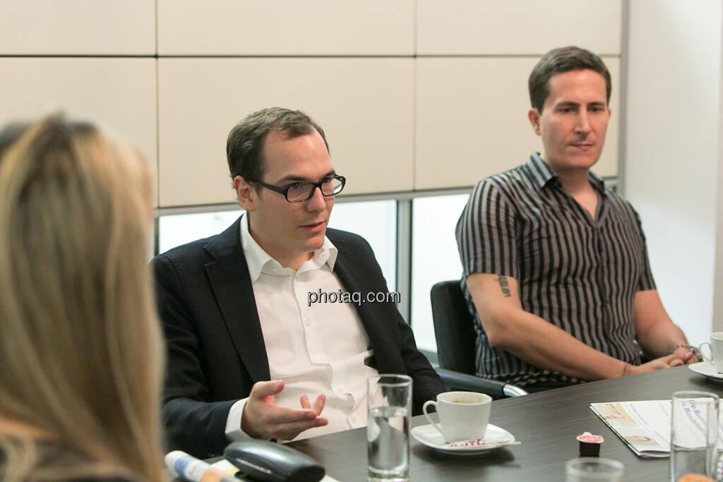 Nina Krist (Philoro), Nikolaus Jilch (Die Presse), Robert Zikmund (FM4), © finanzmarktfoto.at/Martina Draper (19.06.2013)