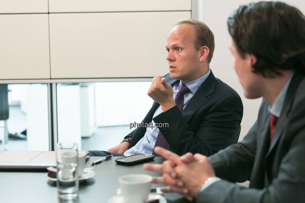 Ronald Stöferle (Incrementum), Rudolf Brenner (Philoro), © finanzmarktfoto.at/Martina Draper (19.06.2013)