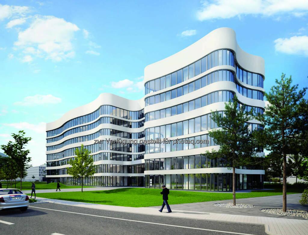Immofinanz: Grundsteinlegung für das Panta Rhei-Bürogebäude am Düsseldorfer Flughafen (15.12.2012)