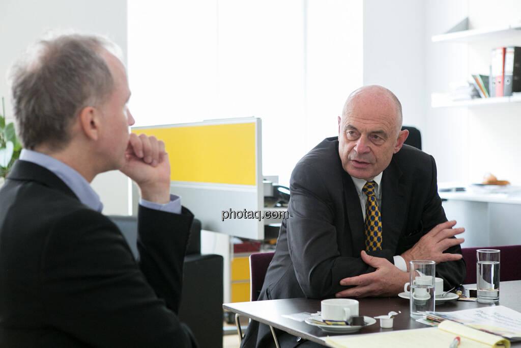 Christian Drastil, Wolfgang Nolz, © finanzmarktfoto.at/Martina Draper (01.07.2013)