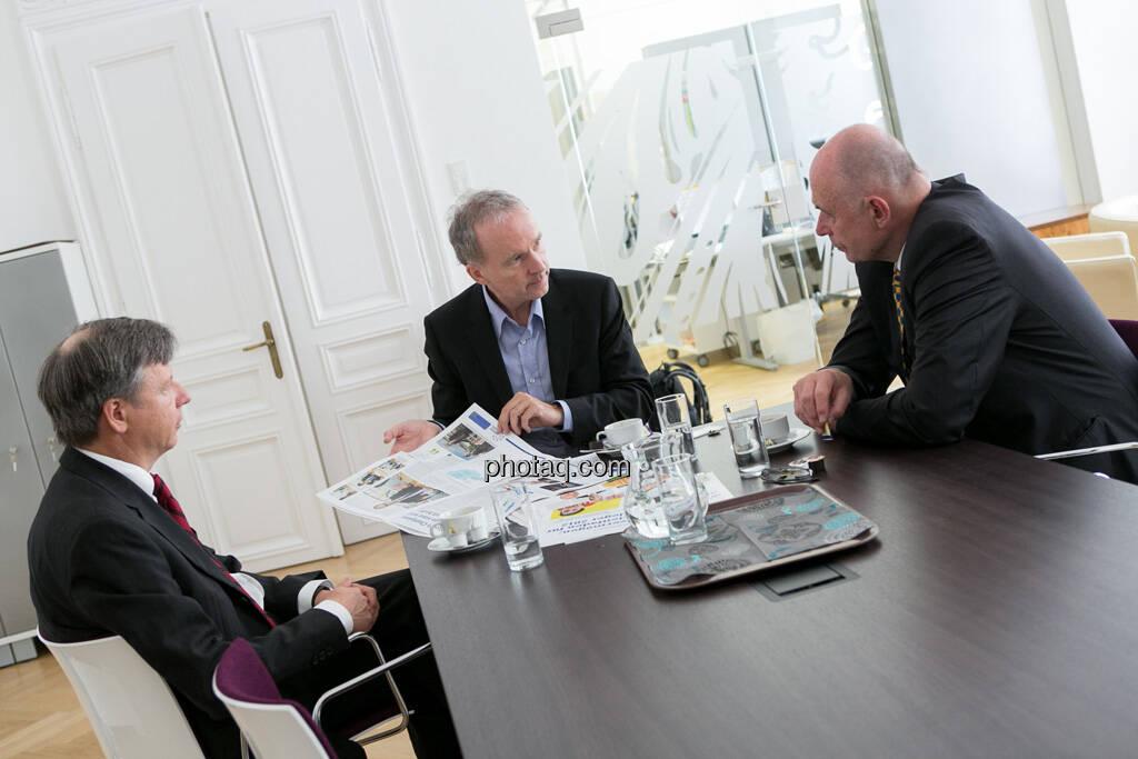 Heinrich Traumüller, Christian Drastil, Wolfgang Nolz, © finanzmarktfoto.at/Martina Draper (01.07.2013)